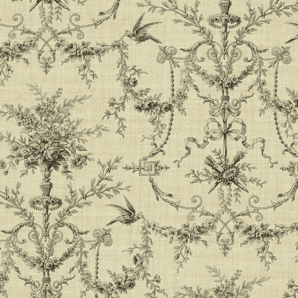 Toile de jouy wallpaper related keywords toile de jouy - Chambre toile de jouy ...
