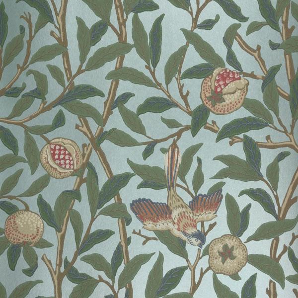 morris co archive 2 bird pomegranate 212538. Black Bedroom Furniture Sets. Home Design Ideas
